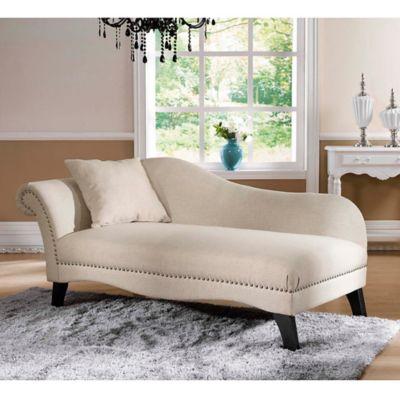 baxton studio phoebe chaise lounge in beige