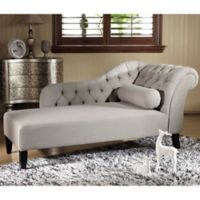 Baxton Studio Aphrodite Chaise Lounge in Grey