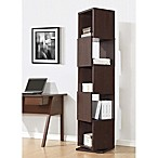 Baxton Studio Ogden Bookcase in Dark Brown