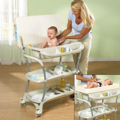 Product Image For Primo Euro Spa Baby Bath Tub And Changing Table