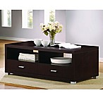Baxton Studio Derwent Coffee Table in Dark Brown