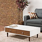 Baxton Studio Gemini Coffee Table in White/Walnut