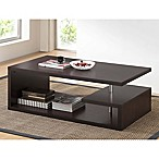 Baxton Studio Lindy Coffee Table in Dark Brown