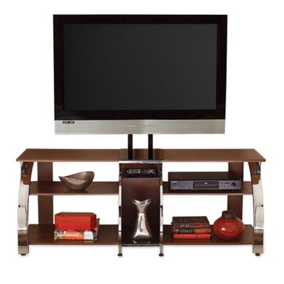 steve silver layla tv stand with mounting bracket in cherry