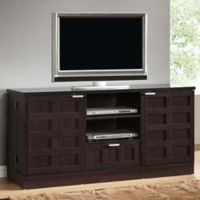 Wholesale Interiors Inc Tosato Modern TV Stand and Media Cabinet in Dark Brown