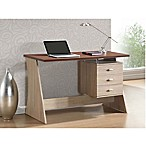 Baxton Studios Parallax Writing Desk in Natural Brown