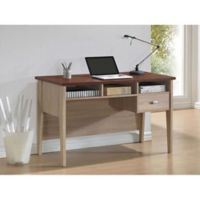 Baxton Studio Tyler Writing Desk in Natural Brown