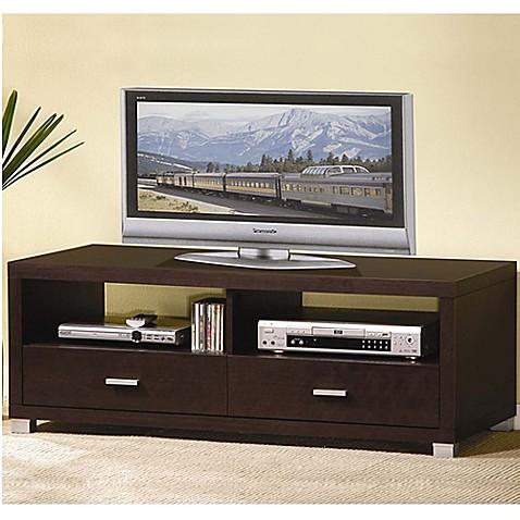 Baxton studio derwent tv stand in dark brown bed bath beyond for Wholesale interiors baxton studio 71 tv stand