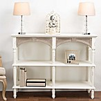 Baxton Studio Touraine Console Table in White/Light Brown