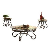 Steve Silver Co. 3-Piece Lola Cocktail and End Table Set in Black