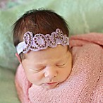 Tiny Blessings Boutique Newborn  Love  Headband in Lavender