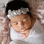 "Tiny Blessings Boutique Newborn ""Love"" Headband in White"