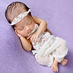 Tiny Blessings Boutique Newborn 2-Piece Romper and Headband Set in Ivory