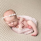 Tiny Blessings Boutique Mohair Wrap and Headband Set in Pink