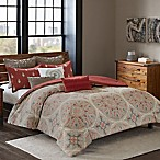 INK+IVY Ballad Full/Queen Comforter Set in Red