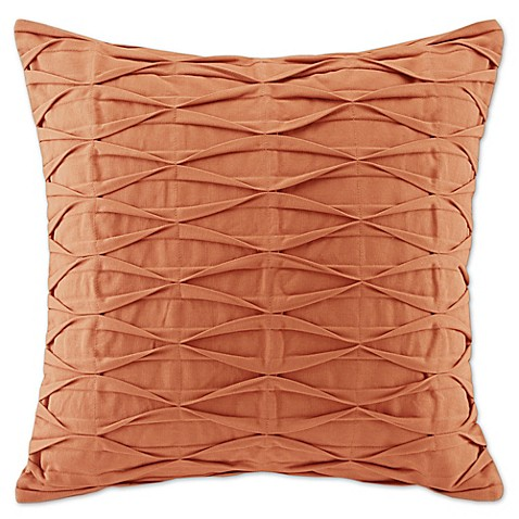 Orange Throw Pillows For Bed : N Natori Nara Square Throw Pillow in Orange - Bed Bath & Beyond