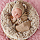 Tiny Blessings Boutique Size 3M Snuggle Sack and Bear Bonnet Set in Beige