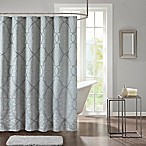 Madison Park Lavine 72-Inch Shower Curtain in Blue