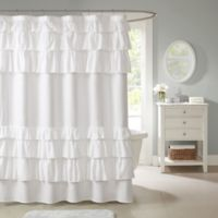 Madison Park Grace 72-Inch Shower Curtain in White