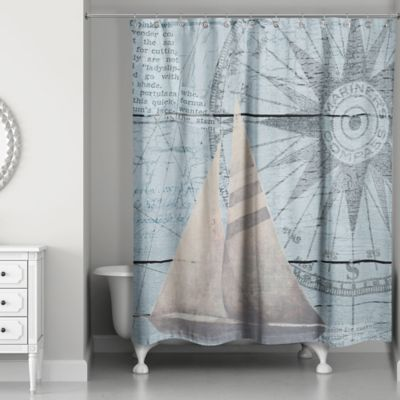 Buy Blue / Beige Curtains from Bed Bath & Beyond