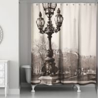 Designs Direct Afternoon In Paris Shower Curtain Black White