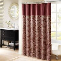Madison Park Aubrey 72-Inch Shower Curtain in Burgundy