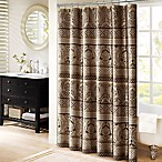 Madison Park Bellagio 72-Inch Shower Curtain in Taupe