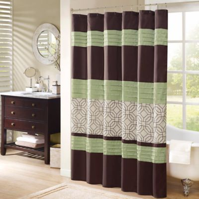 Madison Park Briggs 72 Inch Shower Curtain In Green