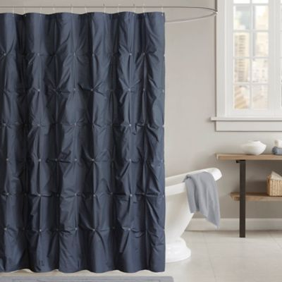 Royal Blue And Brown Shower Curtain