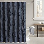 INK+IVY Masie 72-Inch Shower Curtain in Navy
