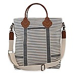 CB Station Colored Flight Travel Bag in Grey Stripes