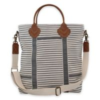 CB Station Color Flight Travel Bag in Grey Stripes