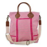 CB Station Color Flight Travel Bag in Pink Stripes