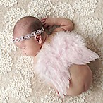 Tiny Blessings Boutique Newborn Pearl and Rhinestone Headband and Wing Set in Pink