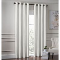 Garland 84-Inch Lined Grommet Top Window Curtain Panel in White