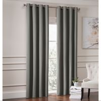 Garland 84-Inch Lined Grommet Top Window Curtain Panel in Pewter