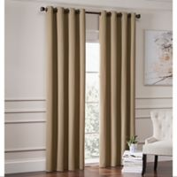 Garland 108-Inch Lined Grommet Top Window Curtain Panel in Mocha