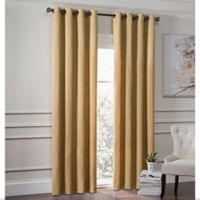 Garland 84-Inch Lined Grommet Top Window Curtain Panel in Gold