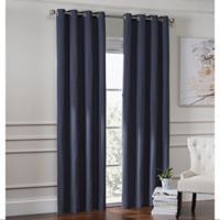 Garland 63-Inch Lined Grommet Top Window Curtain Panel in Navy
