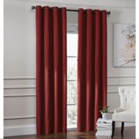 Garland 95-Inch Lined Grommet Top Window Curtain Panel in Crimson