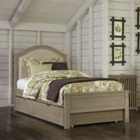 NE Kids Highlands Bailey Upholstered Twin Bed in Driftwood
