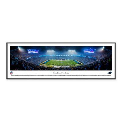 NFL Carolina Panthers 50 Yard Line Bank Of America Stadium Night Standard  Panoramic Framed Picture