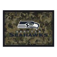 Milliken NFL Seattle Seahawks 3-Foot 10-Inch x 5-Foot 4-Inch Camo Area Rug