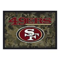 Milliken NFL San Francisco 49ers 3-Foot 10-Inch x 5-Foot 4-Inch Camo Area Rug