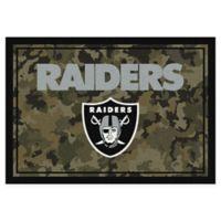 Milliken NFL Oakland Raiders 3-Foot 10-Inch x 5-Foot 4-Inch Camo Area Rug
