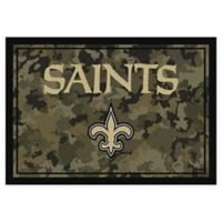 Milliken NFL New Orleans Saints 3-Foot 10-Inch x 5-Foot 4-Inch Camo Area Rug