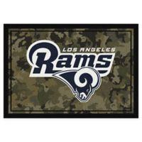 Milliken NFL Los Angeles Rams 3-Foot 10-Inch x 5-Foot 4-Inch Camo Area Rug