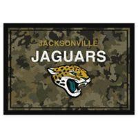 Milliken NFL Jacksonville Jaguars 3-Foot 10-Inch x 5-Foot 4-Inch Camo Area Rug