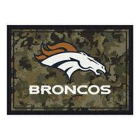 Milliken NFL Denver Broncos 3-Foot 10-Inch x 5-Foot 4-Inch Camo Area Rug