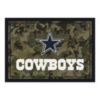 Milliken NFL Dallas Cowboys 3-Foot 10-Inch x 5-Foot 4-Inch Camo Area Rug